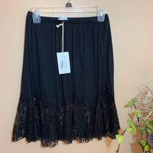 Grace lace black skirt extender